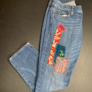 Cabi Patchwork Jeans #887 size 2. EUC
